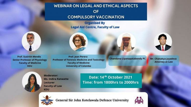 Webinar on Legal and Ethical Aspects of Compulsory Vaccination